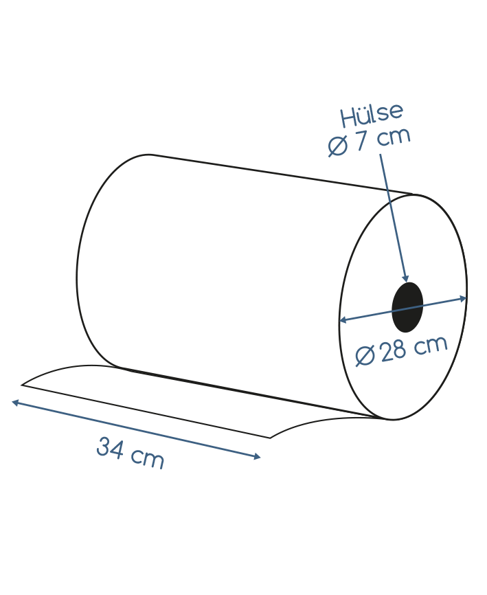 Abmessungen Putzpapier 2 lagig recycling 1000 Blatt 34x34cm