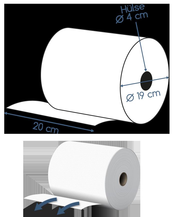 Handtuchpapierrollen und Papierhandtuchrollen 3 lagig Abmessungen kostenlos testen