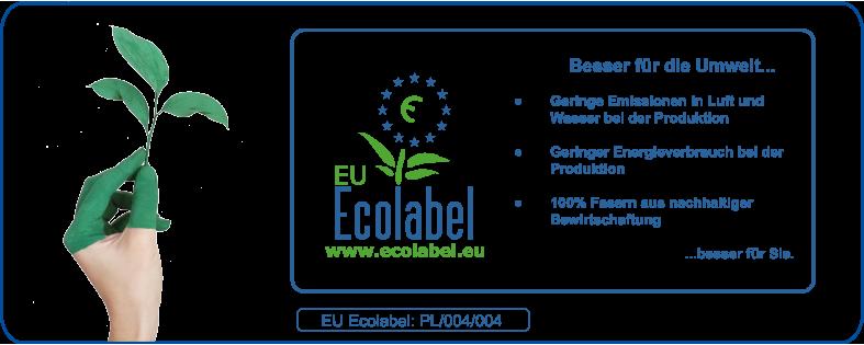 Handtuchpapier 1 lagig weiss mit EU ECOLABEL Musterversand