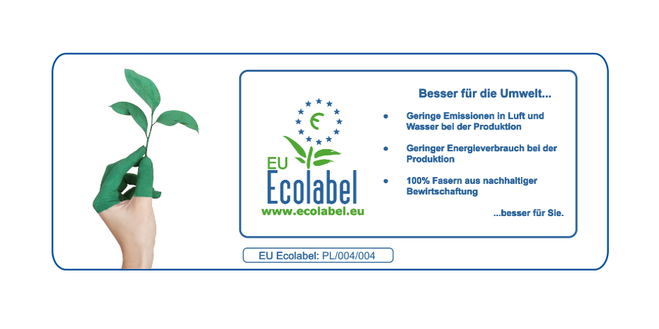 Toilettenpapier Großhandel 3 lagig Zellstoff 2112 Rollen EU Ecolabel Palettenversand